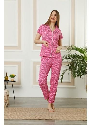 Akbeniz Pijama Takım Fuşya